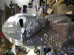 13 ga Fluted Stainless Rus Helm with Drape